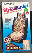 Stress Buster Wooden Beaded Car Seat Cushion NEW IN BOX!