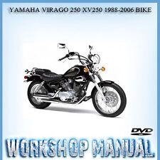 YAMAHA VIRAGO 250 XV250 1988-2006 BIKE WORKSHOP SERVICE REPAIR MANUAL IN DISC