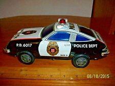 Vintage Battery Operated Police Highway Patrol Car made in Japan