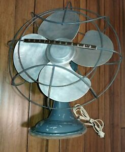 Vintage Westinghouse Electric Fan Art Deco Style Oscillating Table Fan
