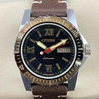 Vintage Citizen Diver's Look Automatic Day-Date 21 Jewels Men's Wrist Watch