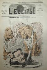 Souvenir Racetrack Caricature Gill Journal Satirical L'Eclipse No No 84 of 1869