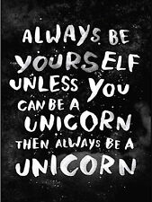 """Always Be Yourself, Retro metal Sign/Plaque, Gift, Home 10"""" x 8"""" Large"""