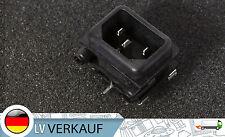 Kaltgeräte Einbaustecker 230V mit Sicherunghalter 10A Platinenbuchse