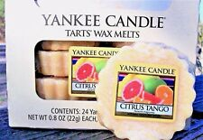"Box Lot of 24 Yankee Candle ""CITRUS TANGO"" Fruit Scented Tarts Wax Melts"