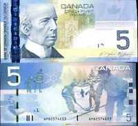 Canada 5 Dollars 2006 / 2010 P 101 UNC