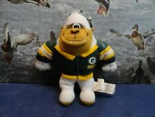 "9"" White Gorilla Green Bay Packers Football Jacket P Stuffed Animal NFL Ape"