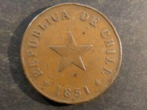 Chile. 1 Centavo, 1851.