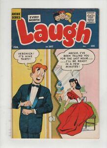 LAUGH #107 VF-, Harry Lucey & Dan DeCarlo art, Katy Keene, Archie,1960, HTF