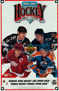 Steve Cusano Art 1991-1992 NHL LNH Hockey Upper Deck Promo Poster Wayne Gretzky