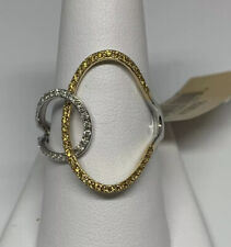 Right Hand Fashion Ring Nwt 9.75 Effy $3,624.0 Canary Yellow And White Diamond