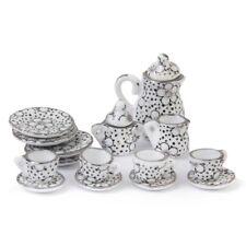 Puppenhaus Miniatur Speise Geschirr Porzellan Tee Set 15 Stk. Y8U1