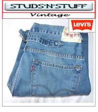 "VINTAGE LEVIS 503'S LOOSE FIT RAW CUT JEANS  W34"" L27"" APROX SIZE UK 14  (T53)"