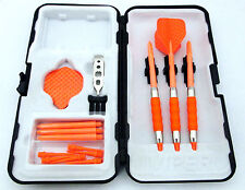 Orange Dimpled Standard Rubberized Sure Grip Soft Tip Dart Set + Case 16 gram -4