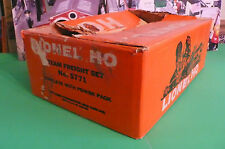 LIONEL HO TRAIN SET 5771: ORIGINAL BOX, only> Southern Pacific with gateman accy