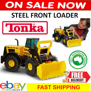 Large Steel Tonka Metal Loader Truck Kids Play Sandpit Construction Vehicle Toy