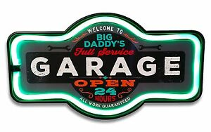 Big Daddy's Garage LED Neon Lighted Marquee Sign For Bar, Garage, or Man Cave
