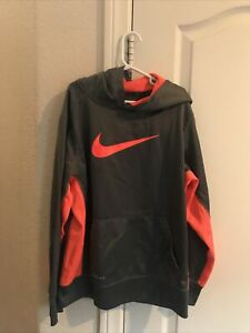 boys NIKE thermo-fit hooded sweatshirt size large (8-10)