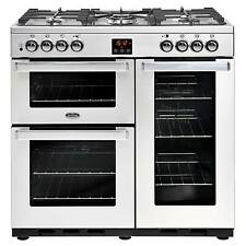 Belling Cookcentre 90DFT Professional S/Steel 90cm Dual Fuel Range Cooker - NEW
