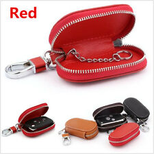 Red Universal PU Leather Fashion Auto Car Smart Remote Key Holder Bag FOB Case
