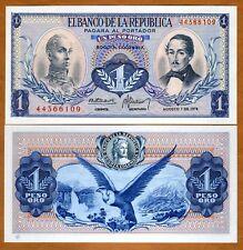 Colombia, 1 Pesos Oro, 8-7-1974, P-404 (404e), UNC > Andean Condor