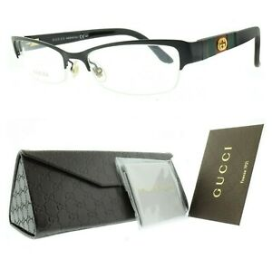 Gucci GG 4213 GB5 Black Rectangular Optical semi rimless Frames Eyeglasses women