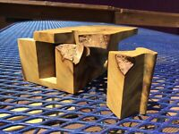 Natural Burl Wood Puzzle Box 4 Piece Unsigned Beauty   #042103