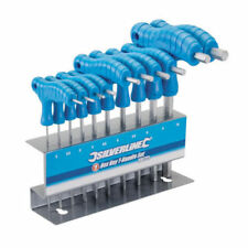Heavy Duty 10pc Silverline 2-10mm T-Handle Allen Hex Wrench Key Stand Set Metric