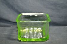 Vintage Green Depression Glass Square Container Dish