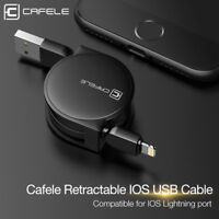 Retractable 1M 2.0 A Lightning USB Data Sync Cable Charger For iPhone 6 7 8 Plus