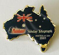 Australia Day 2001 Sunday Telegraph Westfiled Flag Pin Badge Rare Vintage (J2)