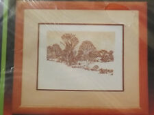Vtg 1984 NIP Winter Dusk COUNTRYSIDE PICTURE 14x11 Crewel Embroidery Kit Unused