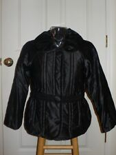 Marc Jacobs Black Satin Quilted Puff Jacket Coat $398 NWT XS