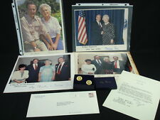A Collection of US President George H Bush Memorabilia featuring Pete Senopoulos