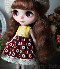 Blythe Doll Outfit Clothing Apple Print Dress (Red)