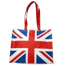 """Union Jack British Over the Shoulder Fabric Aarm Tote Bag Large 15""""x15"""" #309"""