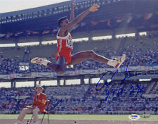 Carl Lewis SIGNED 11x14 Photo Olympic Gold Medalist Track PSA/DNA AUTOGRAPHED