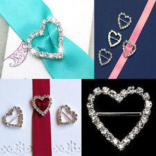 10x Grade A Heart Diamante buckle sliders10mm inner horizontal bar(NOT SECONDS)