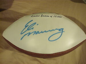 Eli Manning Rookie Autographed Signed NY Giants Football PSA/DNA LOA 2X SB MVP