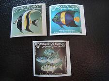 DJIBOUTI - timbre - yvert et tellier n° 527 a 529 nsg (non dentele) (A7) stamp