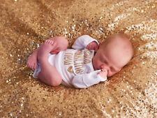 US Stock Sequins Newborn Baby Girls Bodysuit Romper Jumpsuit Hat Outfit Clothes