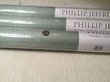 "8yd PHILLIP JEFFRIES ""Manila Hemp"" Silver Blue Grasscloth Wallpaper #3438"