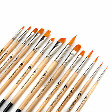 Paint Brush Set, 14 Artist Brushes, Acrylic Oil Watercolor Painting Art Supplies