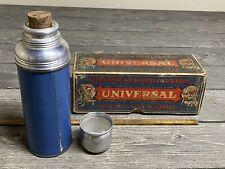 Rare 1920s-30's Universal Thermos Vacuum Bottle 1 Pint With Original Box & Cork