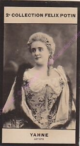 Chromo trade card Photo MARIE YAHNE Artiste Théâtre France circa 1907