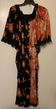 Georgie Keyloun Rare 60s Vtg Psychedelic 60s Caftan Day Gown Dress