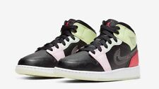 Nike Air Jordan 1 Mid SE Glow In The Dark GS Grade School Size 5Y AV5174 076