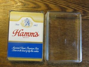 Vintage 1970 NOS Hamm's Beer Playing Cards in Case , Never Used! MINT CONDITION