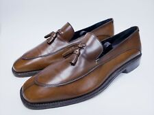 SALVATORE FERRAGAMO leather Men's Split Toe Loafers Tassel Size 8.5 2E