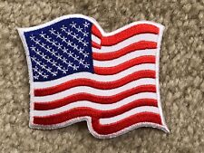 UNITED STATES AMERICAN FLAG EMBROIDERED PATCH IRON ON APPLIQUE PATCH--013